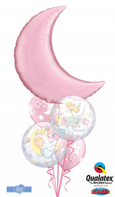Baby Shower Moon Bubbles Balloon Bouquet