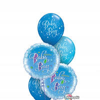 Baby Boy Holographic Balloon Bouquet