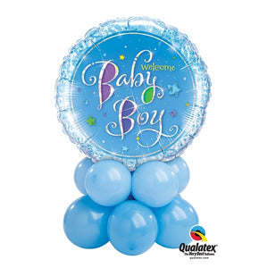 Baby Boy Holographic Balloon Centerpiece