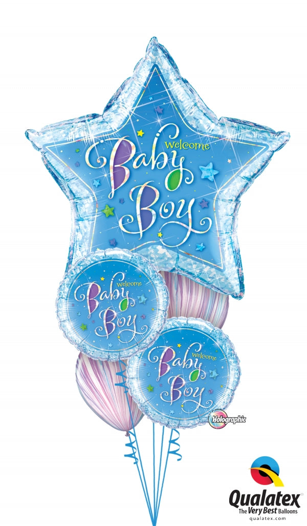 Baby Boy Star Balloon Bouquet