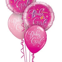 Baby Girl Holographic Balloon Bouquet 1