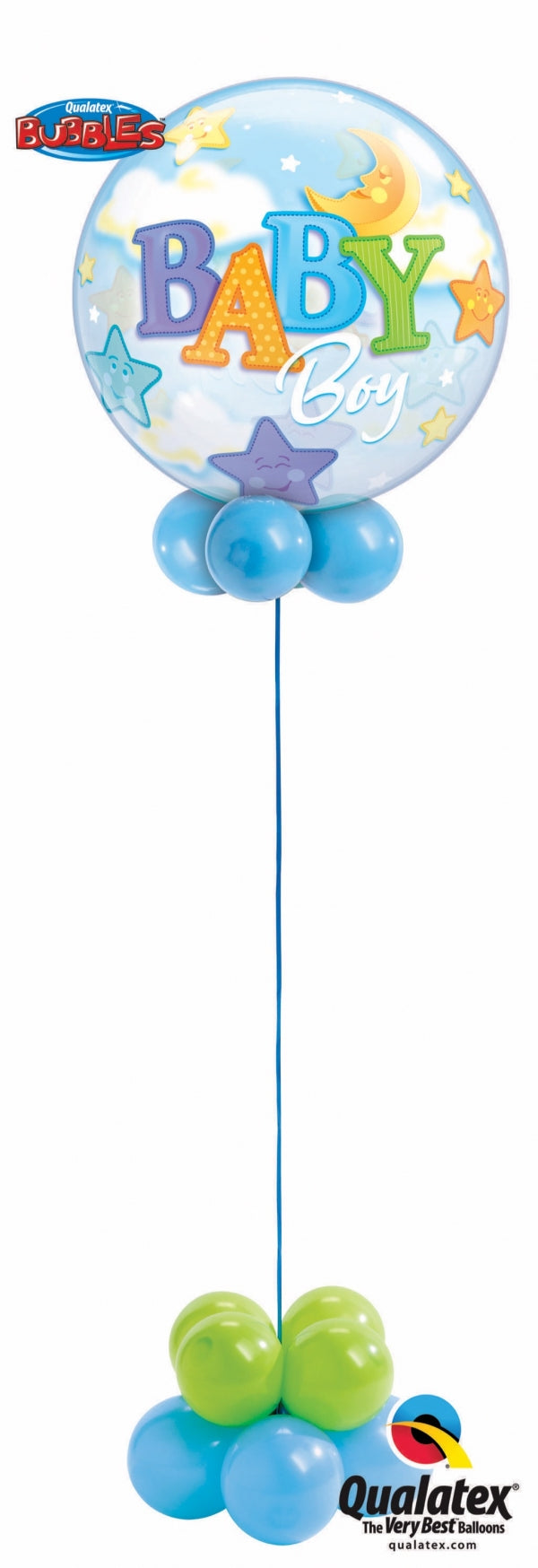 Baby Boy Stars and Moon Bubbles Balloon Centerpiece  4