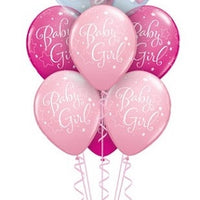 Baby Girl Pink Bear Double Bubble Balloon Bouquet 2