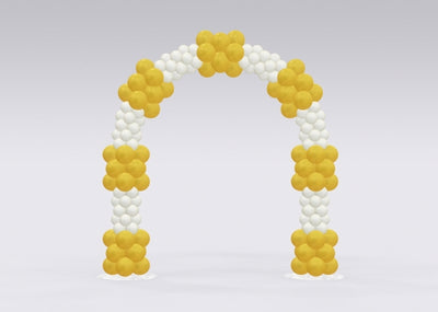 Gold and White Balloon Arch