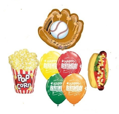 Baseball Birthday Balloon Bouquet 2