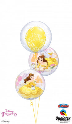 Belle Birthday Bubbles Balloon Bouquet 5
