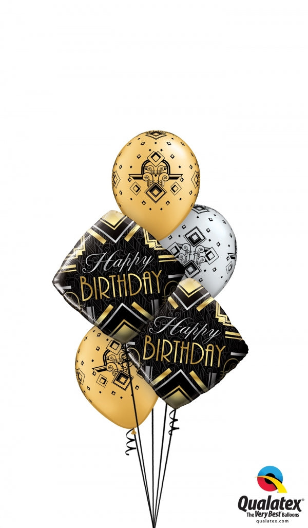 Birthday Art Deco Balloon Bouquet