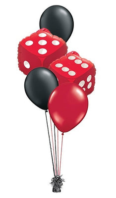 Casino Dice Balloon Bouquet of 7