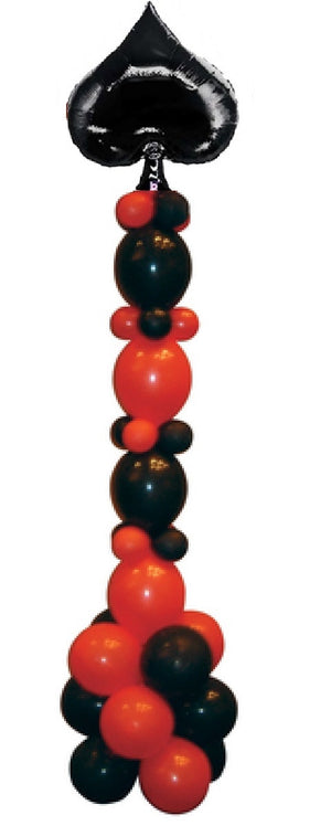 Casino Spade Balloon Stand Up