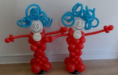 Dr Seuss Thing 1 Thing 2 Balloon Columns