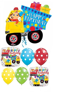 Construction Dump Truck Birthday Balloon Bouquet 6