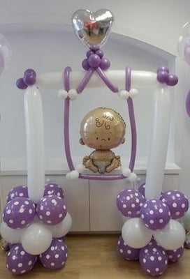 Baby on Swing Balloon Decorations