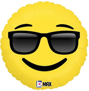 Emoticon Emoji Sunglasses Foil Balloon