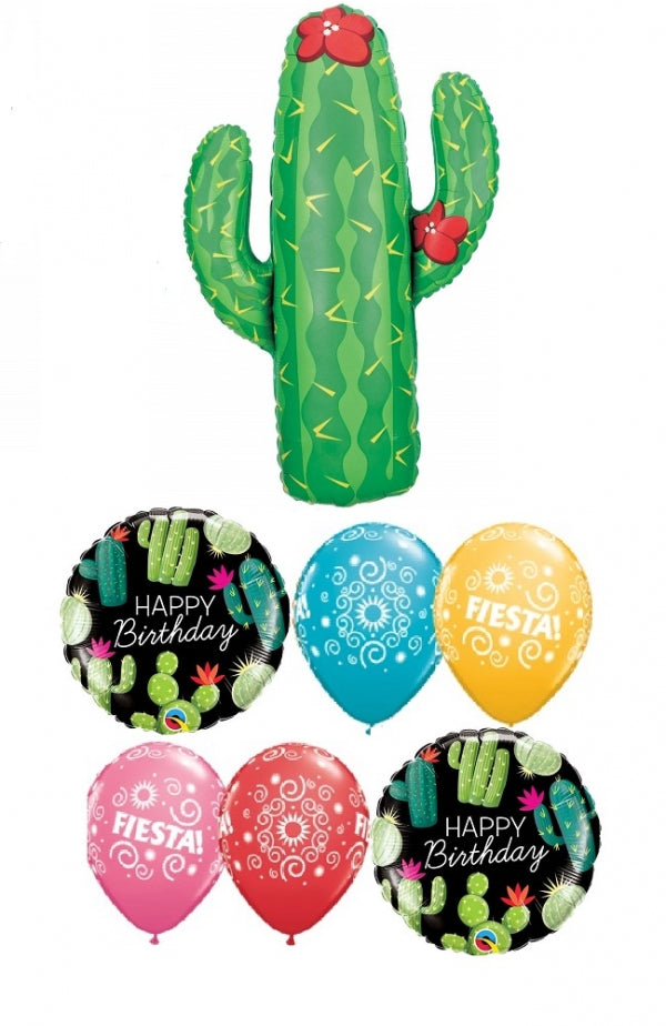 Cactus Birthday Balloon Bouquet 1