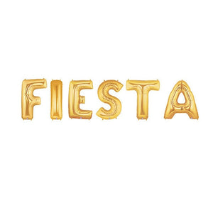 Fiesta Gold Jumbo Balloon Letters (Includes Helium and Weights)