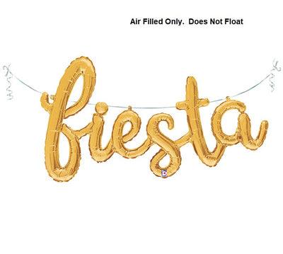 Script Gold Fiesta (Air Filled Only)