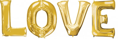 34 inch Gold Balloon Letters LOVE