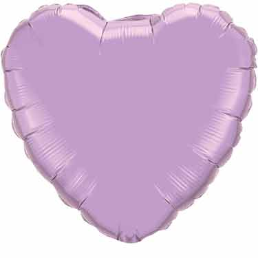 18 inch Lavender Heart Foil Balloon with Helium