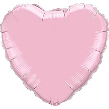 18 inch Pink Heart Foil Helium Balloon with Helium