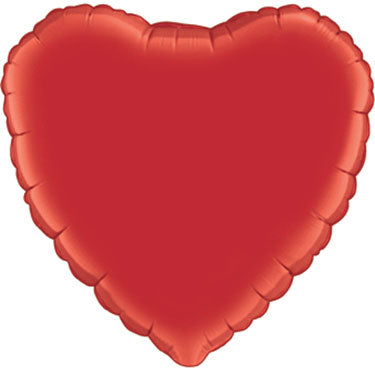 18 inch Red Heart Foil Helium Balloon