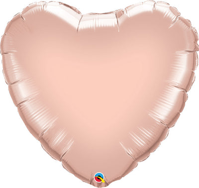 36 inch Rose Gold Heart Foil