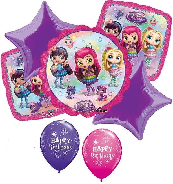 Little Charmers Birthday Balloon Bouquet 1