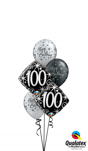 100th Elegant Birthday Balloon Bouquet