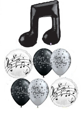 Birthday Musical Notes Balloon Bouquet 2