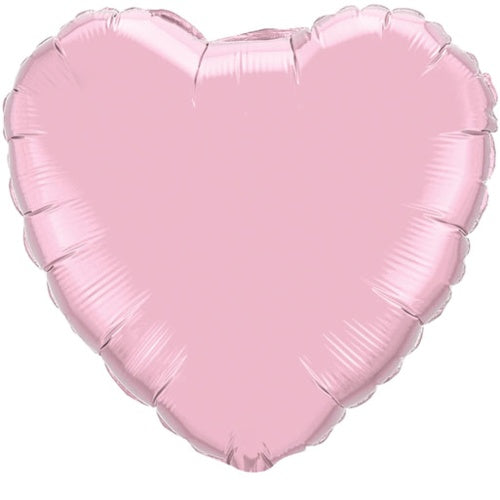 18 inch Pearl Pink Heart Foil Balloon with Helium