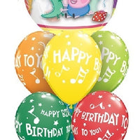 Peppa Pig and George Orbz Birthday Balloon Bouquet 2