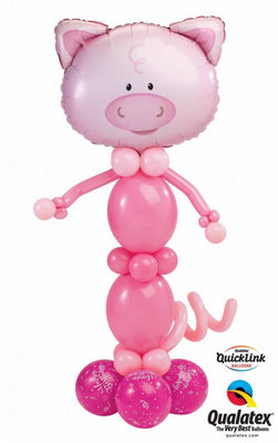 Farm Animals Pig Balloon Stand Up 2