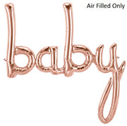 Script Rose Gold Baby (Air Filled Only)