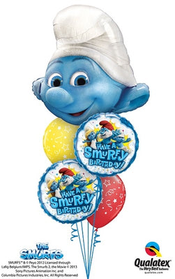 Smurfs Clumsy Birthday Balloon Bouquet 3