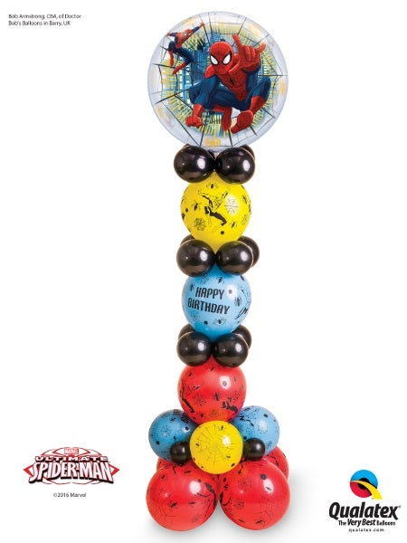 Spider-Man Bubble Birthday Balloon Stand Up 8