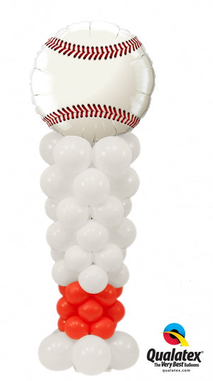 Baseball Bat Balloon Column