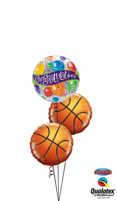 Basketball Congrautulations Balloon Bouquet