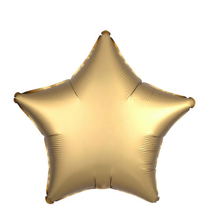 18 inch Satin Gold Star Foil Helium Balloon