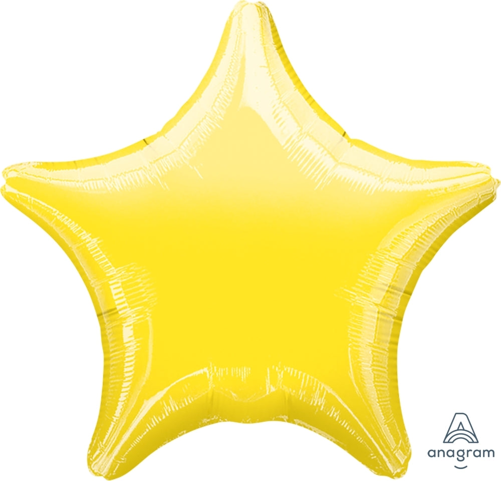 18 inch Yellow Star Foil Helium Balloon
