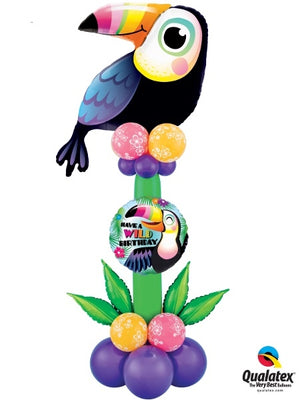 Toucan Birthday Balloon Stand Up 2