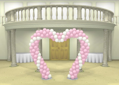 Wedding Spiral Heart Balloon Arch