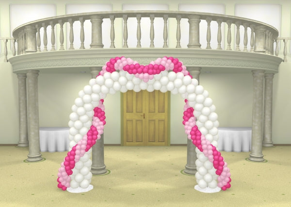 Wedding Deluxe Double Balloon Arch