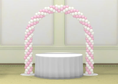 Wedding Cake Table Spiral Balloon Arch