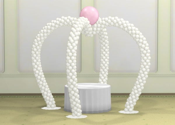 Wedding Double Hearts Balloon Arch
