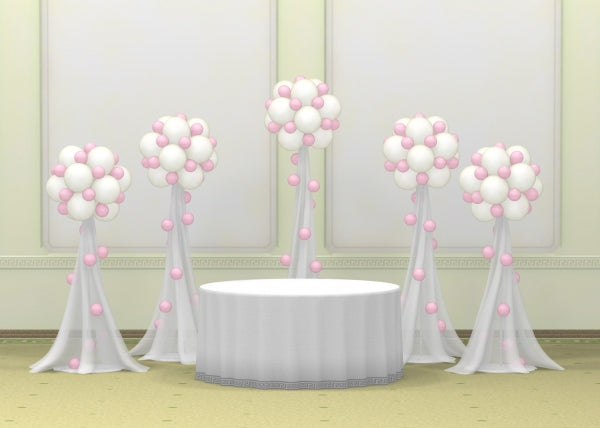 Wedding Dots Tulle Balloon Columns