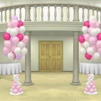 Wedding Multi Colour Cluster Balloon Bouquet Columns