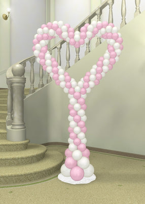 Wedding Spiral Heart Balloon Column