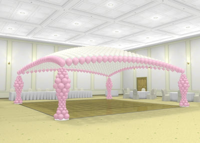 Dance Floor Balloon Canopy and Columns