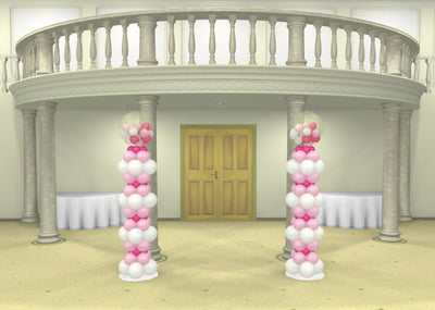 Wedding Gumball Stacked Balloon Column