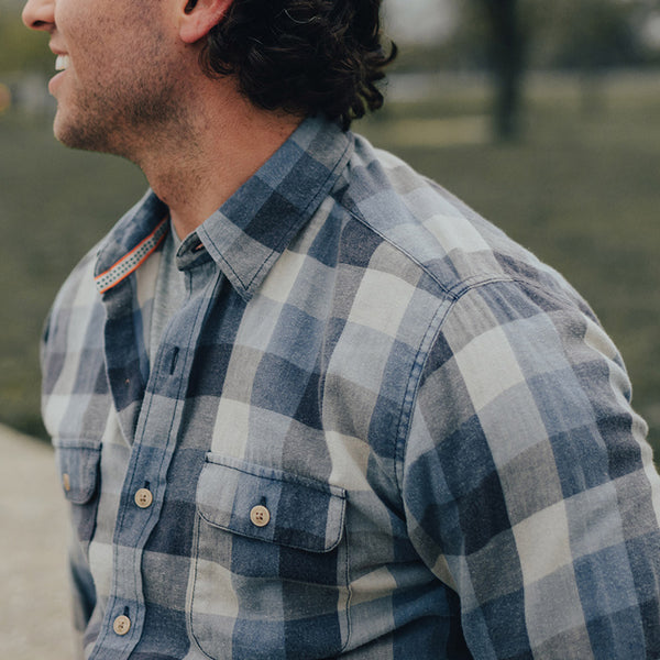 Cousins Plaid Button Up Shirt - Indigo
