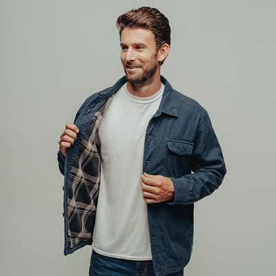 Flannel Lined Twill Shirt Jacket